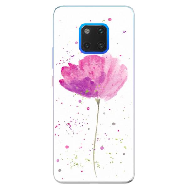Silikonové pouzdro iSaprio - Poppies - Huawei Mate 20 Pro