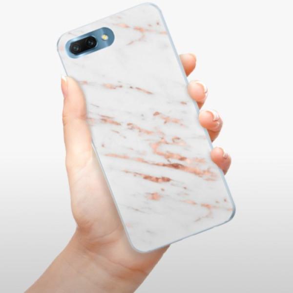 Silikonové pouzdro iSaprio - Rose Gold Marble - Huawei Honor 10