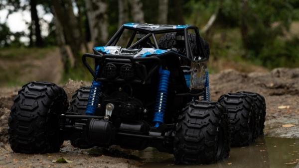 MZ-CLIMB-6WD 1/8 - obří vodotěsný obojživelník - oranžový