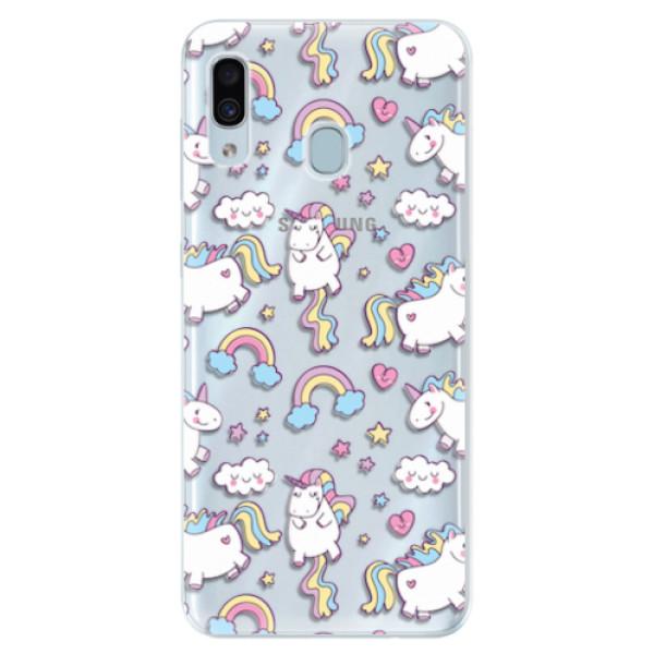 Silikonové pouzdro iSaprio - Unicorn pattern 02 - Samsung Galaxy A30