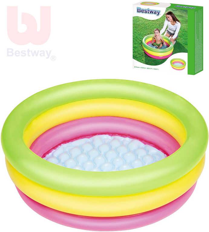 BESTWAY Baby bazének kruhový 70x24cm nafukovací brouzdaliště 51128
