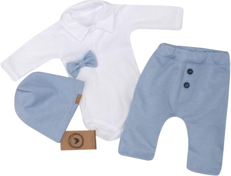 Z&Z 4-dílná sada Elegant Boy, body, kalhoty, motýlek a čepice