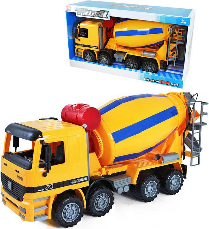 Auto stavební míchačka 39cm na setrvačník v krabici plast