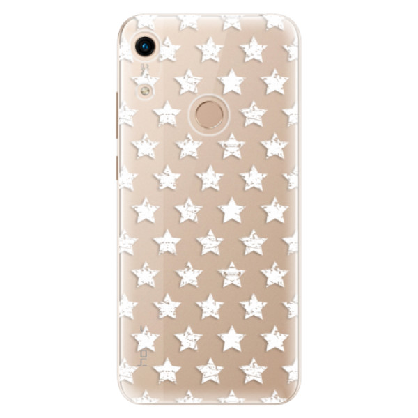 Odolné silikonové pouzdro iSaprio - Stars Pattern - white - Huawei Honor 8A