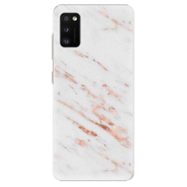 Plastové pouzdro iSaprio - Rose Gold Marble - Samsung Galaxy A41
