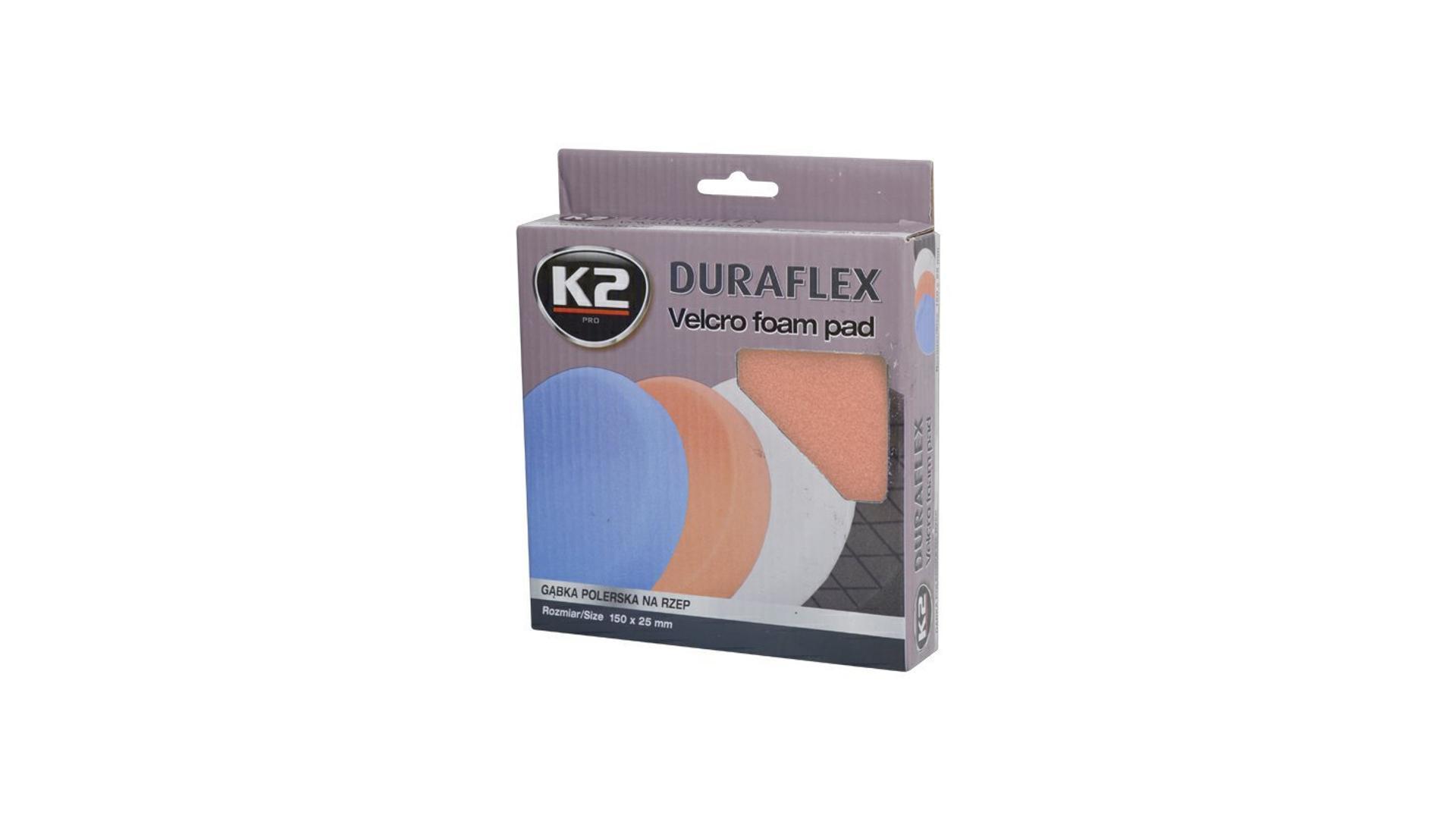 K2 Duraflex náhradní leštící houba 150x25mm ORANŽOVÁ