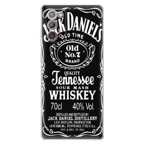 Odolné silikonové pouzdro iSaprio - Jack Daniels - Samsung Galaxy Note 20