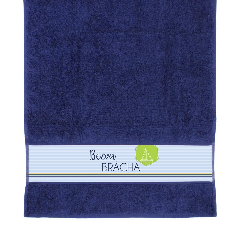 ALBI - Modrý ručník - Bezva brácha