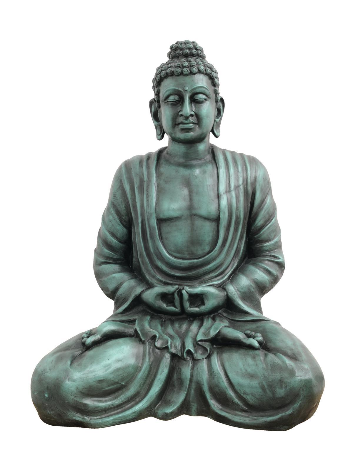 Socha Budhy, černá, 120 cm
