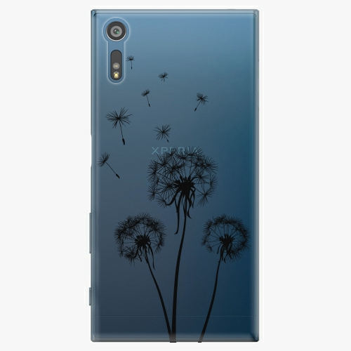 Plastový kryt iSaprio - Three Dandelions – black – Sony Xperia XZ