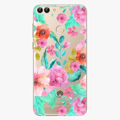 Silikonové pouzdro iSaprio - Flower Pattern 01 - Huawei P Smart