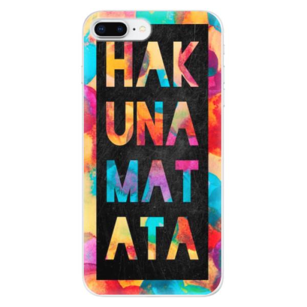 Odolné silikonové pouzdro iSaprio - Hakuna Matata 01 - iPhone 8 Plus