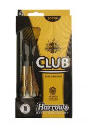 Šipky s plastovým hrotem HARROWS SOFT CLUB BRASS 18g