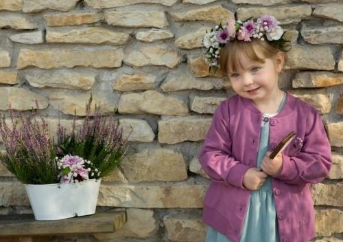 Pinokio Mikina dlouhý rukáv My Garden - šeříková, vel. 104 - 104