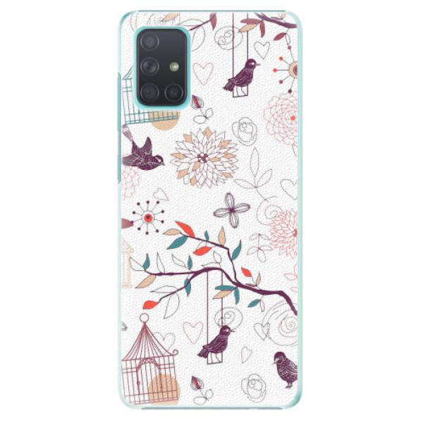 Plastové pouzdro iSaprio - Birds - Samsung Galaxy A71