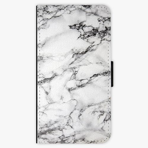 Flipové pouzdro iSaprio - White Marble 01 - Huawei Nova