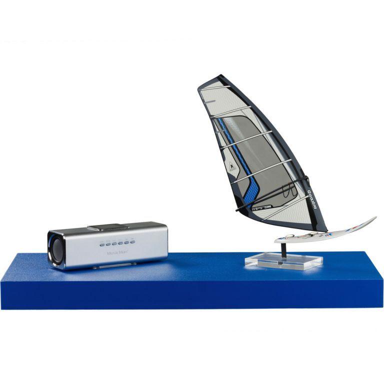 Stilista nástěnná police Volato, 60 cm, modrá
