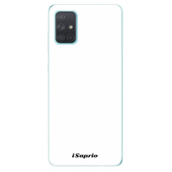 Odolné silikonové pouzdro iSaprio - 4Pure - bílý - Samsung Galaxy A71