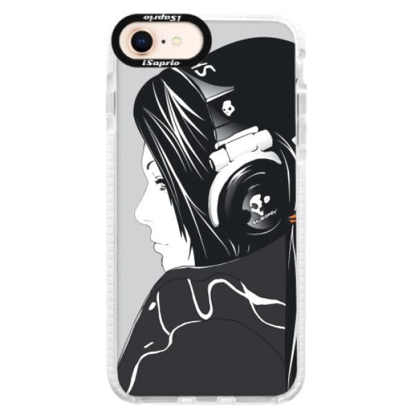 Silikonové pouzdro Bumper iSaprio - Headphones - iPhone 8