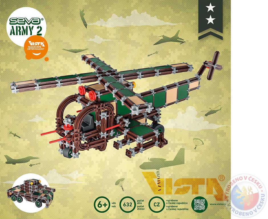 SEVA ARMY 2 Tank Vrtulník polytechnická STAVEBNICE 632 dílků