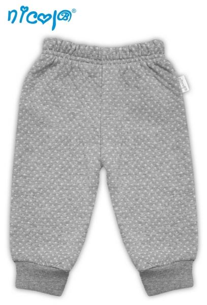 Tepláčky/kalhoty Football - šedé se stahovkou, vel.
