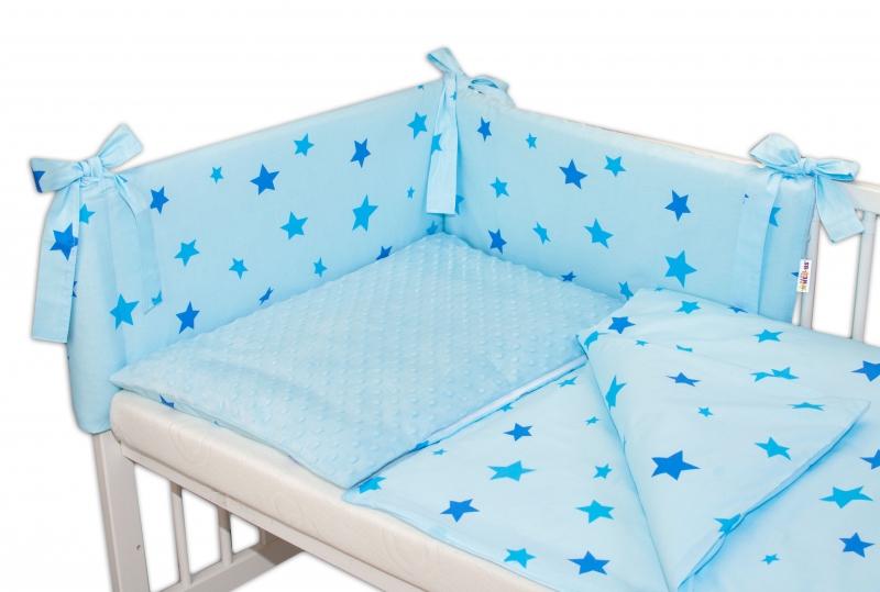 baby-nellys-3-dilna-sada-mantinel-s-povlecenim-minky-baby-stars-sv-modra-120x90