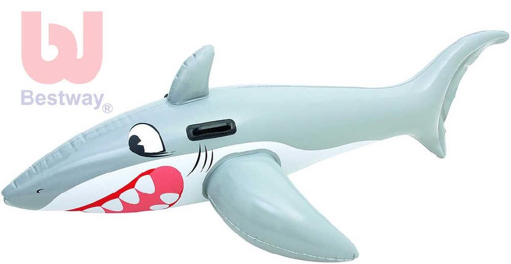 BESTWAY Žralok nafukovací 185x112cm vozítko s úchyty do vody