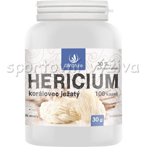 Allnature Hericium Korálovec Ježatý 100 cps