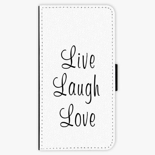 Flipové pouzdro iSaprio - Live Laugh Love - Lenovo Moto G5 Plus