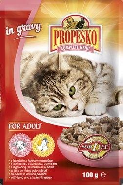 S jehněčím a kuřecím v omáčče kapsička pro kočky 100 g