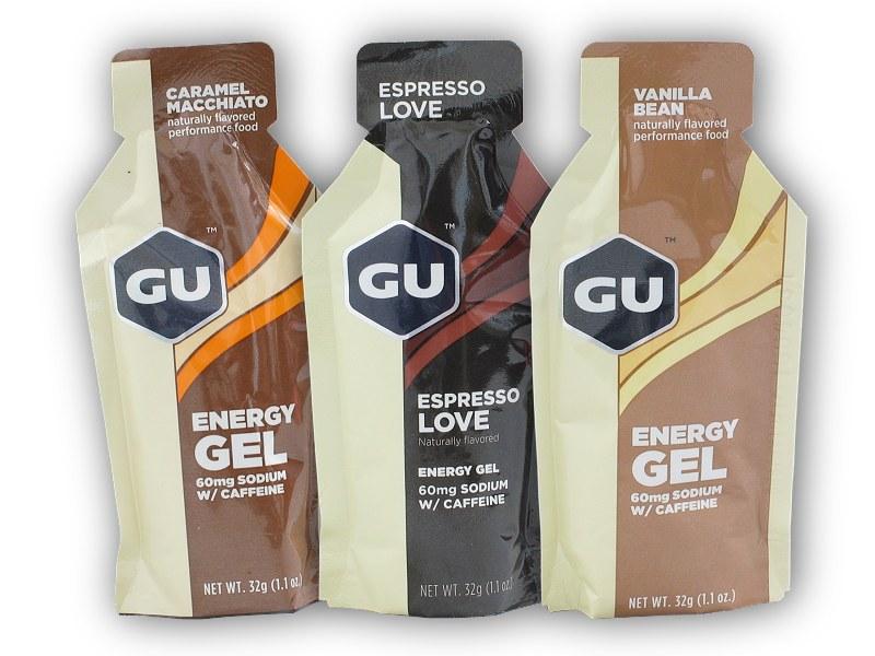 GU Energy Gel 60mg Sodium + Caffeine