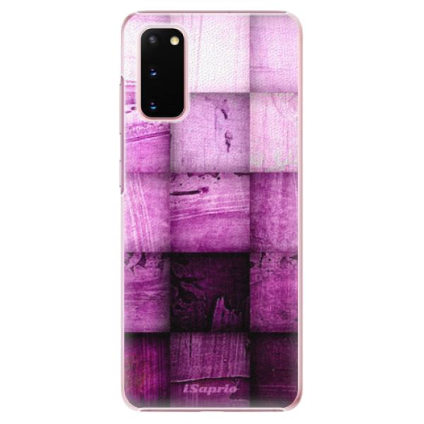 Plastové pouzdro iSaprio - Purple Squares - Samsung Galaxy S20