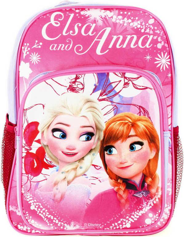 Batoh dětský Frozen (Ledové Království) na výlety s polstrováním boční síťka na láhev