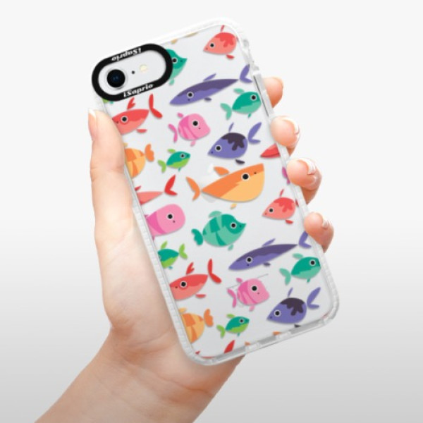 Silikonové pouzdro Bumper iSaprio - Fish pattern 01 - iPhone SE 2020