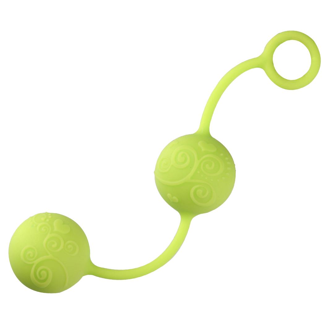 Venušiny kuličky NEON Pleasure balls - Zelené