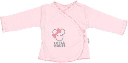 Košilka Little mouse - zapínání bokem - 56 (1-2m)