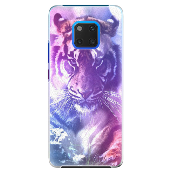 Plastové pouzdro iSaprio - Purple Tiger - Huawei Mate 20 Pro