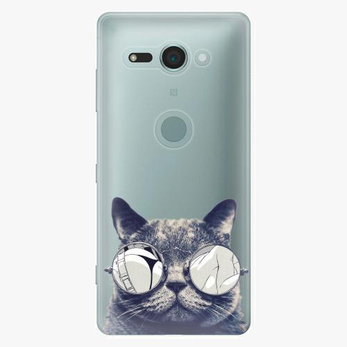 Plastový kryt iSaprio - Crazy Cat 01 - Sony Xperia XZ2 Compact