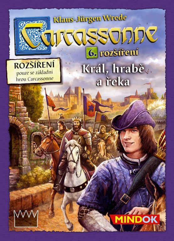 MINDOK HRA Carcassonne rozšíření 6 Král, hrabě a řeka *SPOLEČENSKÉ HRY*