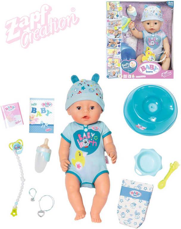 ZAPF BABY BORN Panenka interaktivní miminko chlapeček pláče pije kaká