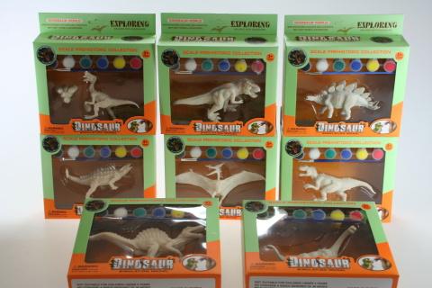 Malování dinosaurus