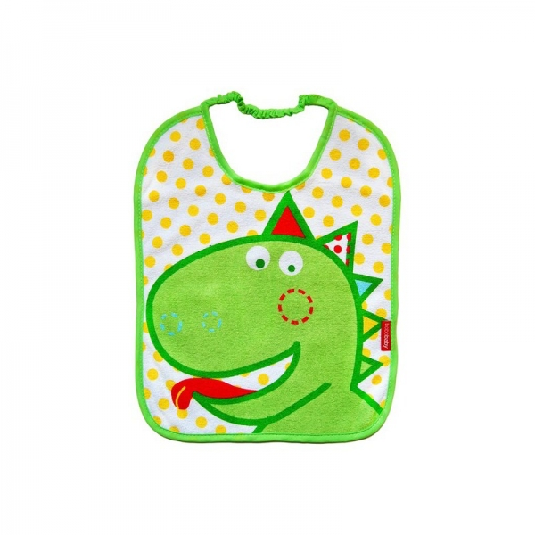 Dvouvrstvý froté bryndáček - Dino