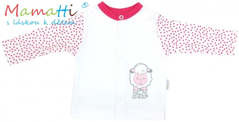 bavlnena-kosilka-mamatti-sheep-bila-cervene-puntiky-80-9-12m