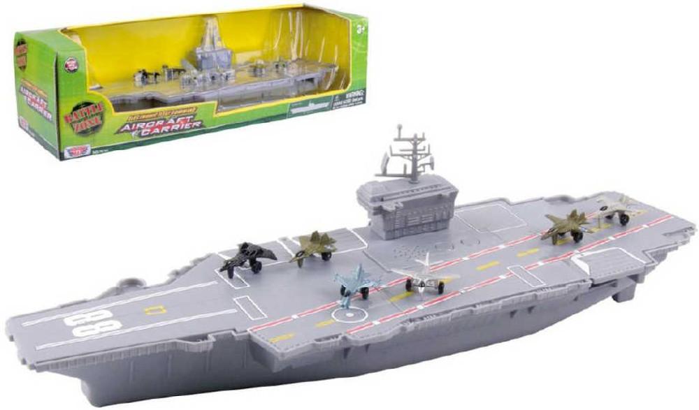 Loď letadlová 45 cm set válečné plavidlo s letadly na baterie