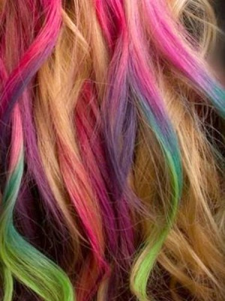 Barevné křídy na vlasy – 24 barev