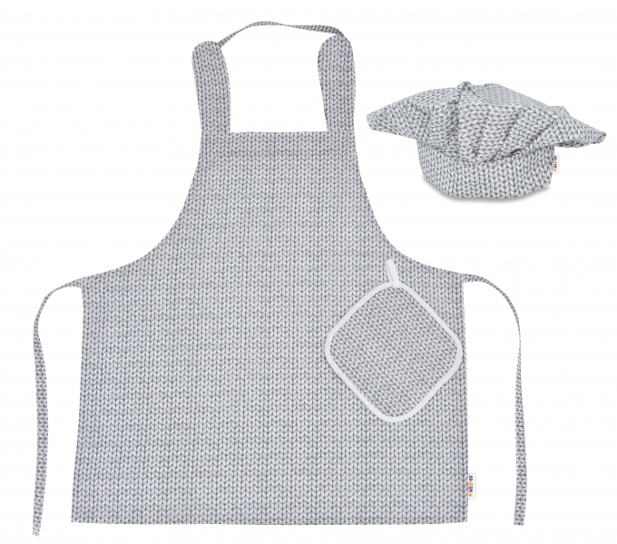 kucharska-sada-junior-masterchef-zastera-cepice-rukavice-seda-svetrikovy-vzor