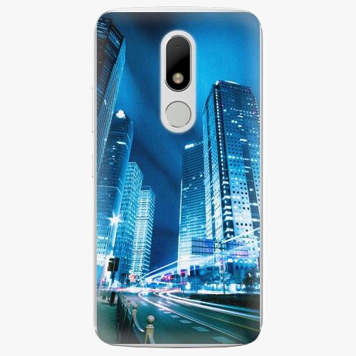 Plastový kryt iSaprio - Night City Blue - Lenovo Moto M