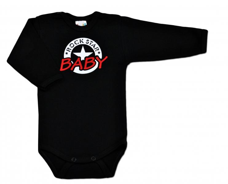 baby-dejna-body-rock-star-baby-dlouhy-rukav-cerne-vel-74-74-6-9m