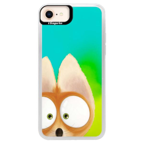 Neonové pouzdro Blue iSaprio - Fox 02 - iPhone 8