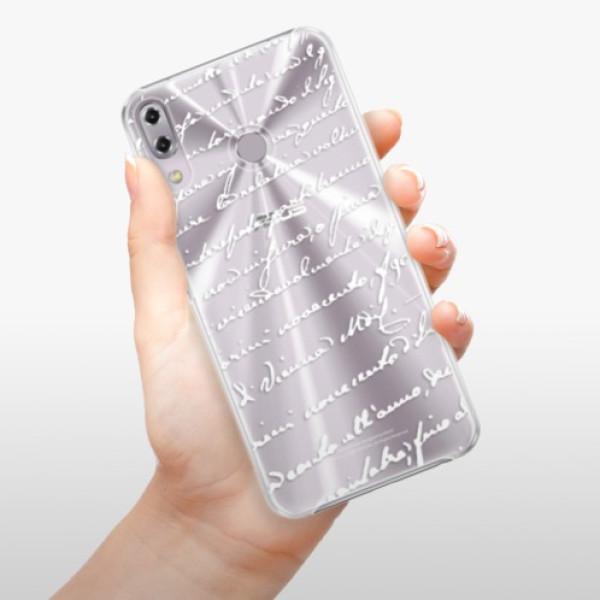 Plastové pouzdro iSaprio - Handwriting 01 - white - Asus ZenFone 5Z ZS620KL